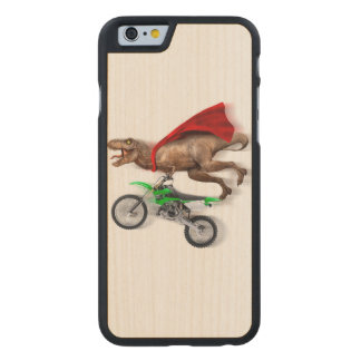 Flying t rex  - t rex motorcycle - t rex ride carved maple iPhone 6 slim case