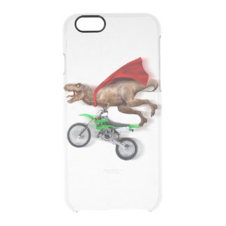 Flying t rex  - t rex motorcycle - t rex ride clear iPhone 6/6S case