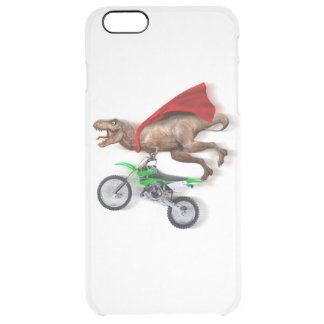 Flying t rex  - t rex motorcycle - t rex ride clear iPhone 6 plus case
