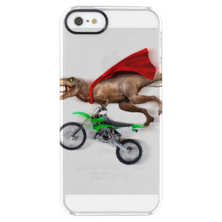 Flying t rex  - t rex motorcycle - t rex ride clear iPhone SE/5/5s case