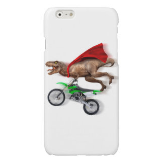 Flying t rex  - t rex motorcycle - t rex ride glossy iPhone 6 case