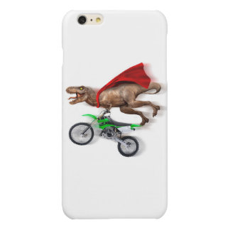 Flying t rex  - t rex motorcycle - t rex ride glossy iPhone 6 plus case