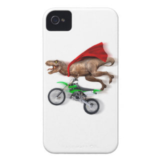 Flying t rex  - t rex motorcycle - t rex ride iPhone 4 Case-Mate case