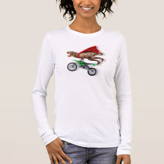 Flying t rex  - t rex motorcycle - t rex ride long sleeve T-Shirt