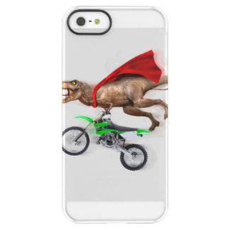 Flying t rex  - t rex motorcycle - t rex ride permafrost iPhone SE/5/5s case