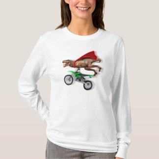 Flying t rex  - t rex motorcycle - t rex ride T-Shirt