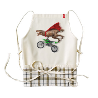 Flying t rex  - t rex motorcycle - t rex ride zazzle HEART apron