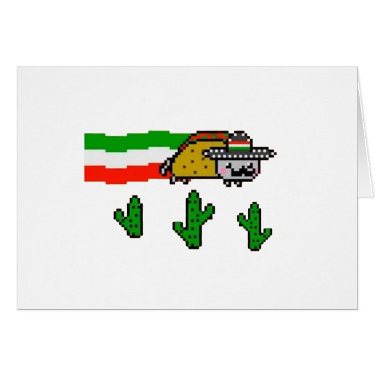 Flying Taco Cat Card