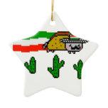 Flying Taco Cat Christmas Tree Ornaments