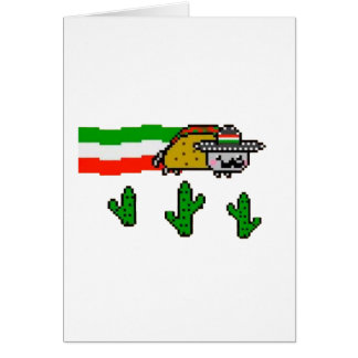 Flying Taco Cat Greeting Card
