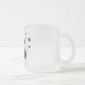 Flying tartan elephants invasion frosted glass coffee mug