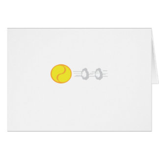 Flying Tennis Ball Card
