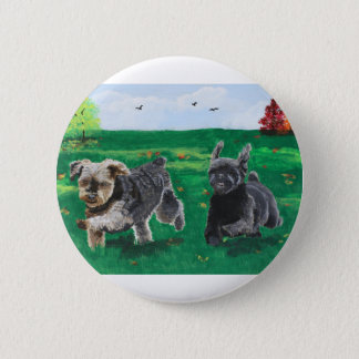 Flying Terriers Button