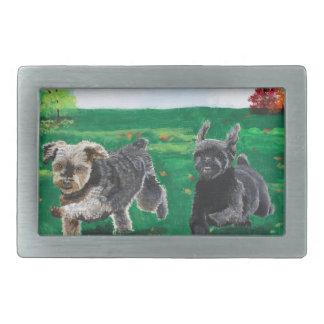 Flying Terriers Rectangular Belt Buckle