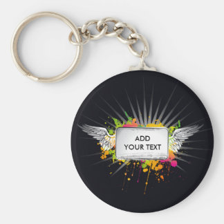Flying Text Keychain