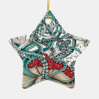 Flying The Agaric.png Ceramic Star Decoration