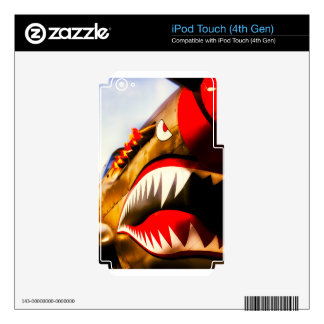 Flying tiger iPod touch 4G decal