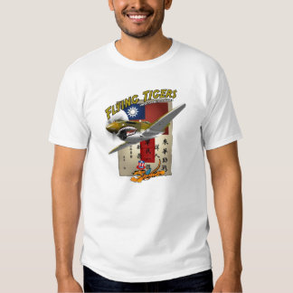 Flying Tigers P-40 Blood Chit Tee Shirt