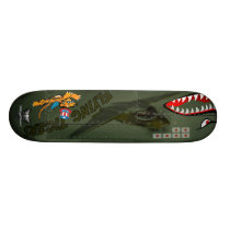 Flying Tigers P-40 Skateboard Deck