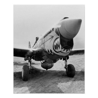 Flying Tigers P-40 Warhawk, 1941 Poster