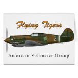 Flying Tigers P-40B Tarjetón