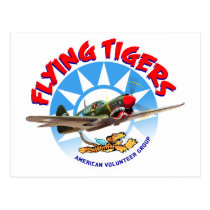 Flying Tigers Postcard