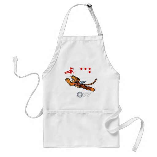 Flying Tigers WWII Nose Art Adult Apron