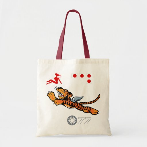 Flying Tigers WWII Nose Art Budget Tote Bag