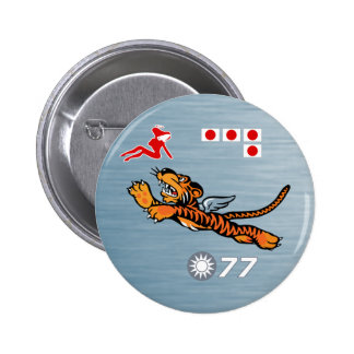 Flying Tigers WWII Nose Art Pinback Button