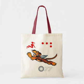 Flying Tigers WWII Nose Art Tote Bag