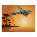 Flying To Paradise - Various sizes available Print