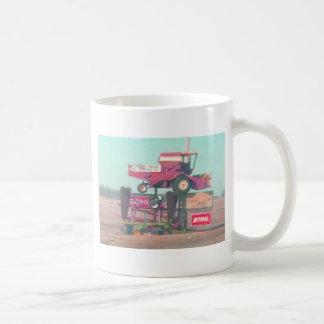 Flying tractor coffee mug