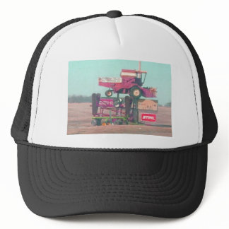 Flying tractor trucker hat