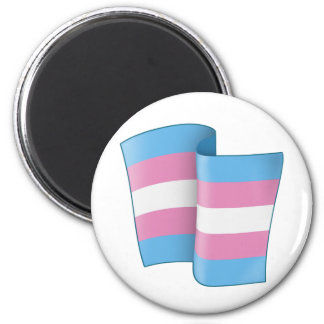 Flying Trans Pride Round Magnet