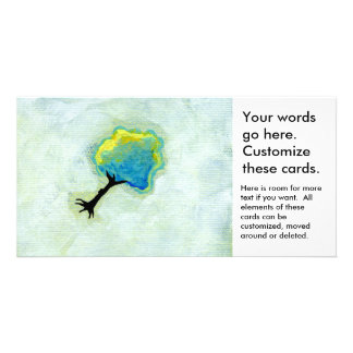 Flying tree floating fun minimalist modern art customized photo card