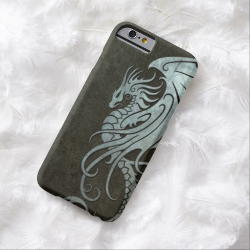 Flying Tribal Dragon – Industrial Steel Effect iPhone 6 Case