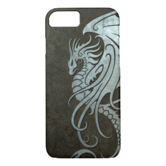 Flying Tribal Dragon – Industrial Steel Effect iPhone 8/7 Case