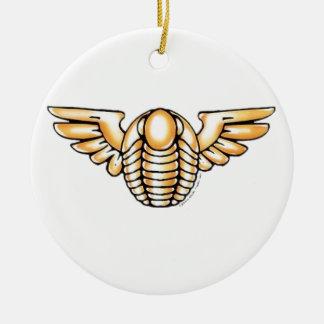 Flying Trilobite Ceramic Ornament