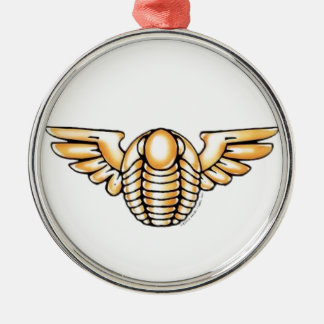 Flying Trilobite Metal Ornament