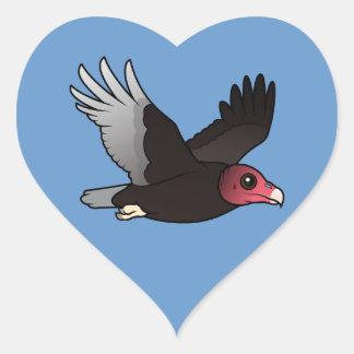 Flying Turkey Vulture Heart Sticker