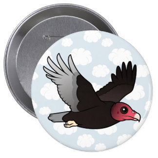 Flying Turkey Vulture Pinback Button