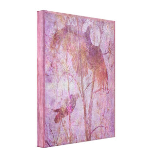 Flying Turkeys Gallery Wrapped Canvas