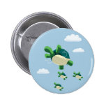 Flying turtle button