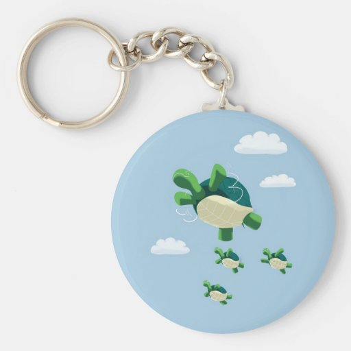 Flying turtle keychain