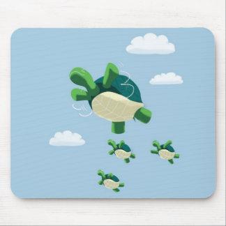 Flying turtle mousepads