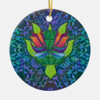 Flying Turtle Round Ornament