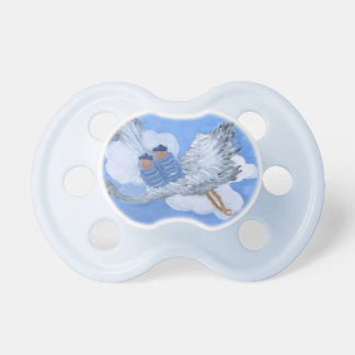 Flying Twin Boy Babies Pacifier