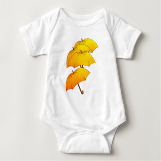 Flying umbrellas baby bodysuit