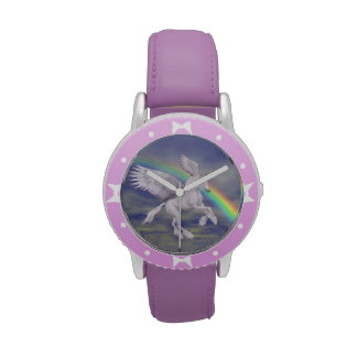 Flying Unicorn Horse Rainbow Animal Art Watch