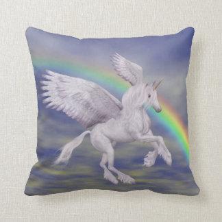 Flying Unicorn Rainbow Fantasy American MoJo Pillo Pillow